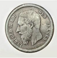 Bélgica - 5 Francos de 1868 de Plata de Leopoldo II