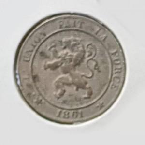 Bélgica - 5 Céntimos 1861 Leopoldo I