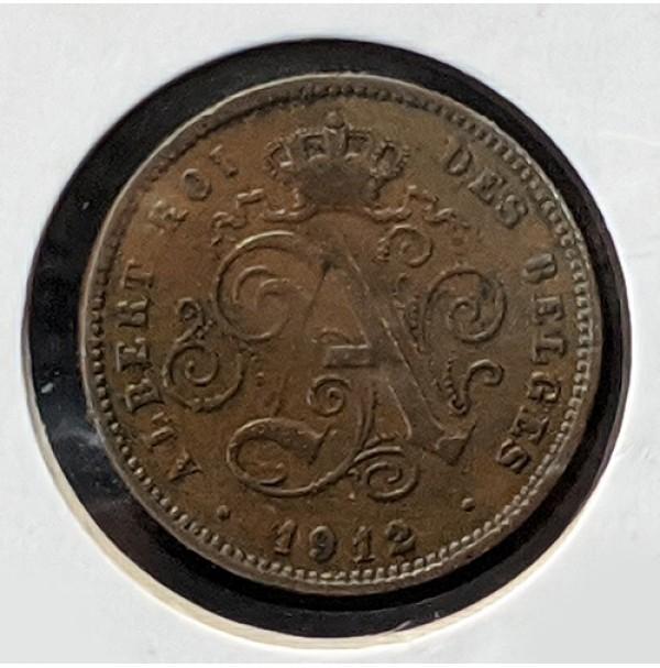 Bélgica - 2 Céntimos 1912 Alberto