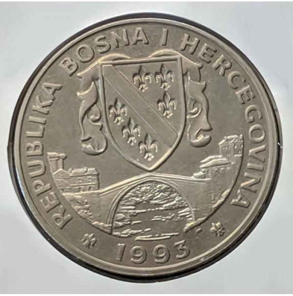 Bosnia y Herzegovina - 500 Dinara 1993 Brontosaurio