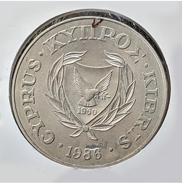 Chipre - 1 Libra de 1986