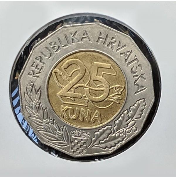 Croacia - 25 Kuna de 2010