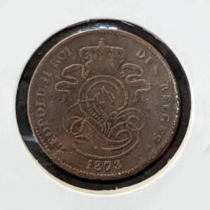 Bélgica - 2 Céntimos 1873 Leopoldo II