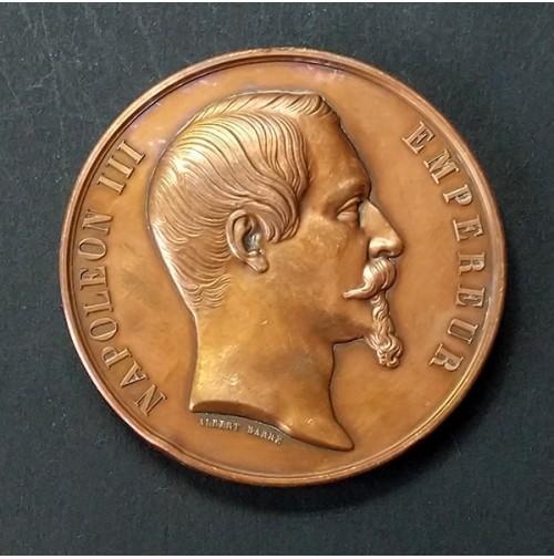 Medalla de Bronce de la Exposición Universal de París de 1855 (Napoleón III)
