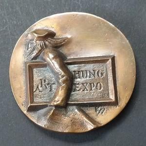 Medalla de bronce preciosa y rara Art Hung Expo