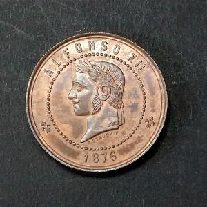 Medalla de Bronce de Alfonso XII 1876 - Joló Filipinas