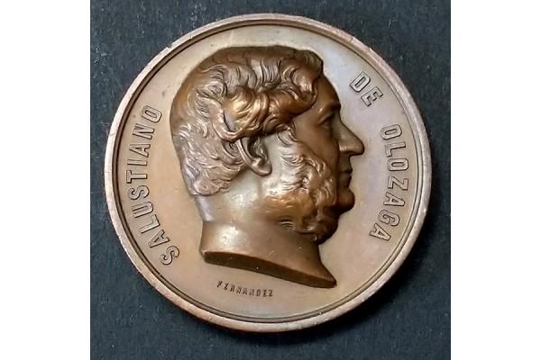Medalla de Bronce de Salustiano de Olozaga de 1861