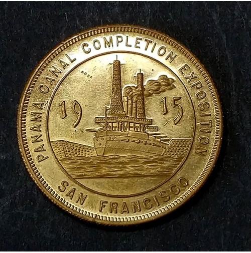 Medalla conmemorativa de la exposición de terminación del Canal de Panamá San Francisco 1915