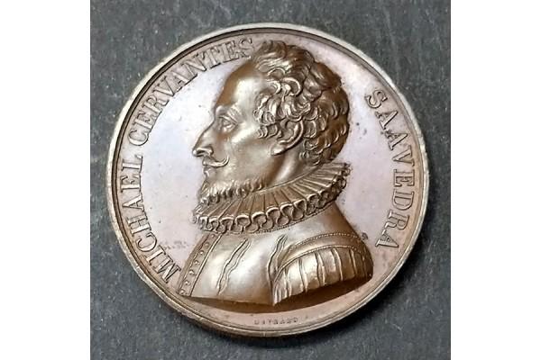 Medalla de Bronce de Miguel de Cervantes de 1818