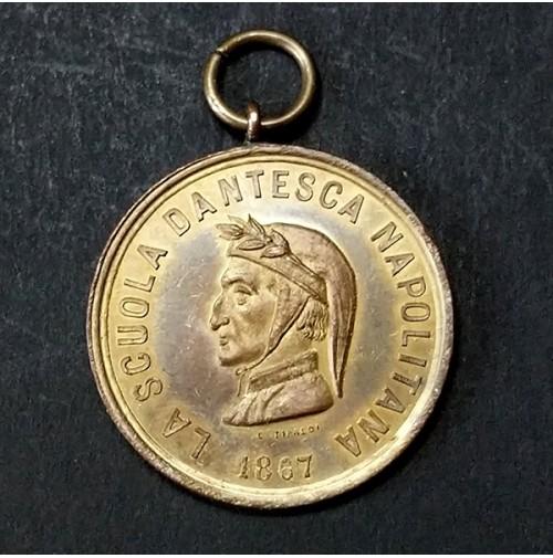 Medalla Scuola Dantesca Napolitana 1867