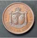 Medalla de Bronce conmemorativa Segundo Centenario de Calderón 1881