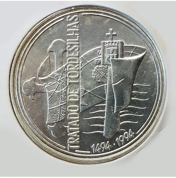 Portugal - 1000 Escudos 1994 de Plata - Tratado de Tordesillas