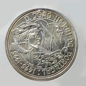 Portugal - 1000 Escudos 1995 de Plata - D. Joao II