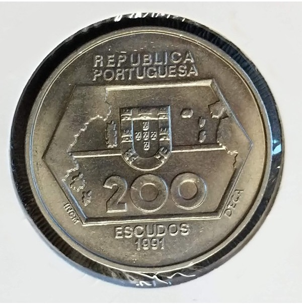 Portugal - 200 Escudos 1991 - Navegaciones a Occidente