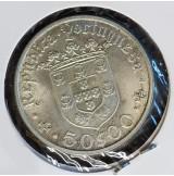 Portugal - 50 Escudos 1968 de Plata - Pedro Alvares Cabral