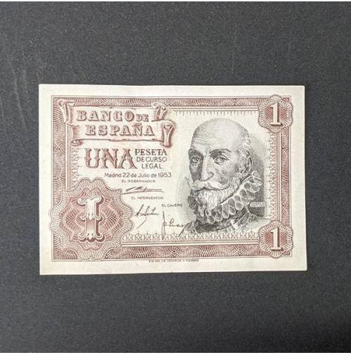 España - Billete de 1 peseta de 1953