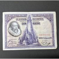 España - Billete de 100 pesetas de 1928