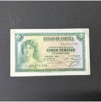 España - Billete de 5 pesetas de 1935