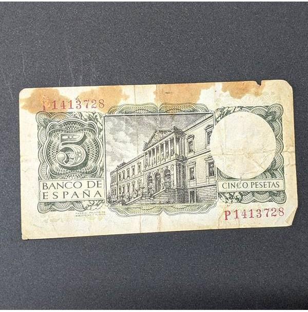 España - Billete de 5 pesetas de 1954