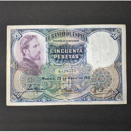 España - Billete de 50 pesetas de 1931