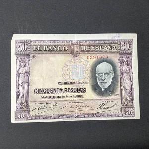 España - Billete de 50 pesetas de 1935