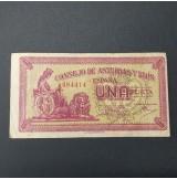 Lote de Billetes Consejo de Asturias y León