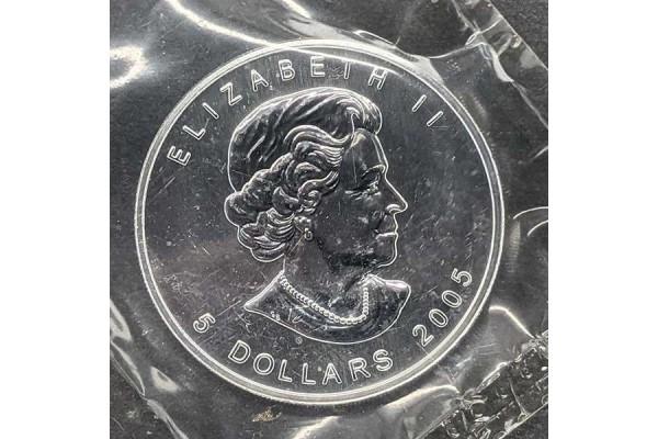 Canadá - 5 Dólares de Plata 2005