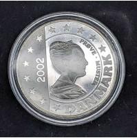 Dinamarca - 5 euros 2002 plata (Prueba de euro)