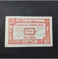 España - Lote de billetes locales de Alcañiz