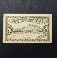 España - Lote de billetes locales de Alicante