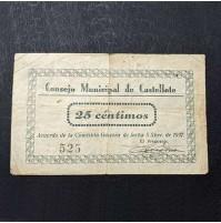 España - Lote de Billetes Locales de Castellote (Terual)