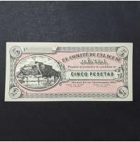 España - Billete de 5 Pesetas de Denia de 1936