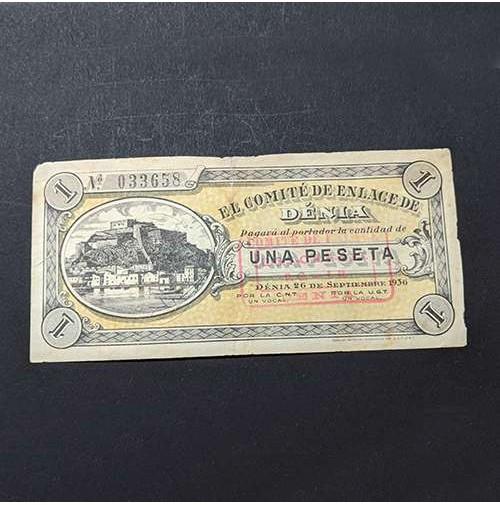 España - 1 Peseta de Denia de 1936