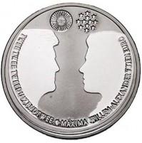 Holanda - 10 euro de 2002 en Plata - Boda Real