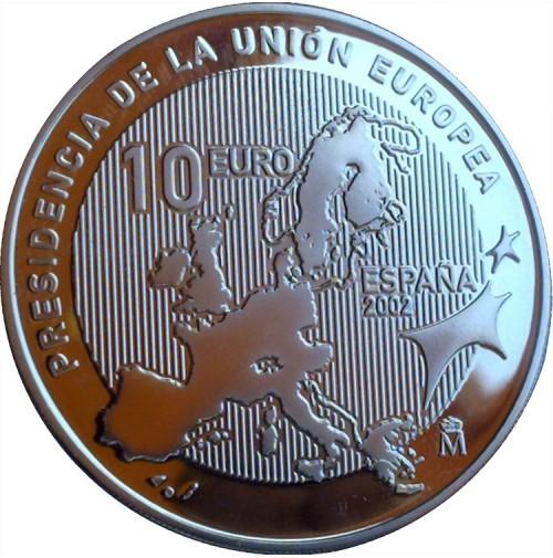 España - 10 euros 2002 - Presidencia Española de la Unión Europea