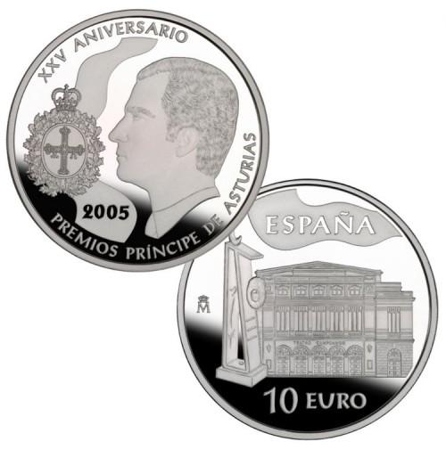 España - 10 euros 2005 - XXV Aniversario de los Premios Príncipe de Asturias