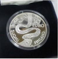 Finlandia - 10 euros 2002 plata - Elias