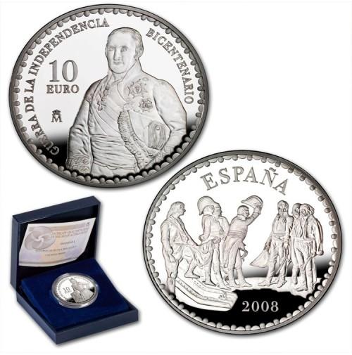 España - 10 euros 2008 - Bicentenario Guerra Independencia