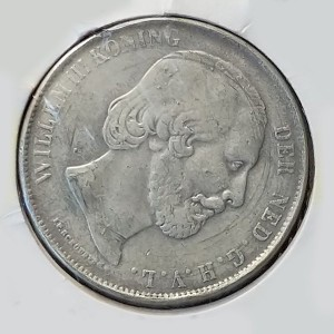 Holanda - 2 1/2 Gulden (Florines) de 1863 en plata