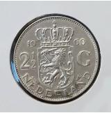 Holanda - 2 1/2 Gulden (Florines) de 1960 en Plata