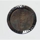 Italia - Monedas de 5 Centesimi de 1922 y 1925