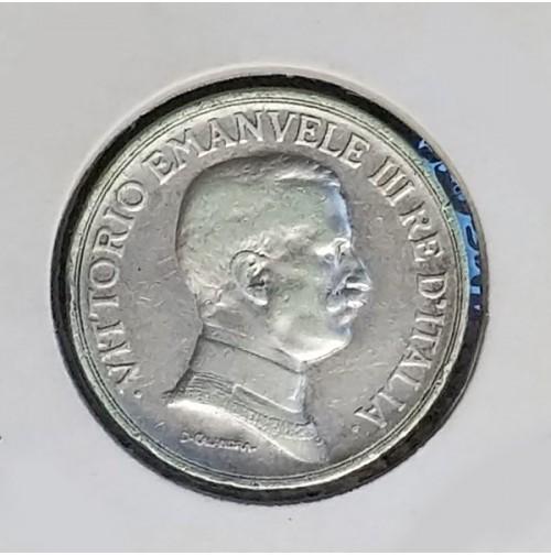 Italia - Lira de plata de 1917