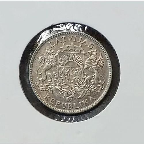 Letonia - 1 Lats de plata de 1924
