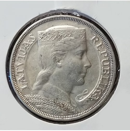 Letonia - 5 Lati 1931 de Plata