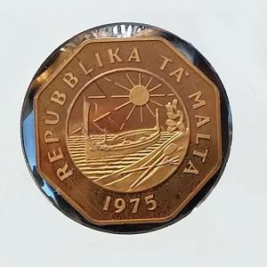 Malta - 25 centavos de 1975