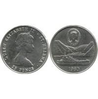 Santa Helena - 25 Peniques de 1980