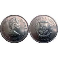 Falkland (Reino Unido) -  50 Peniques de 1977