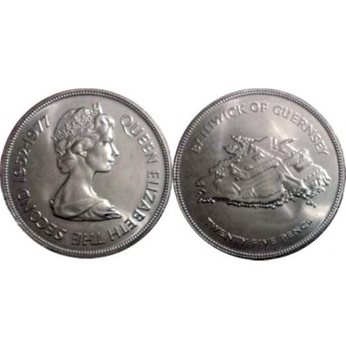 Guernsey (Reino Unido) -  50 Peniques de 1977