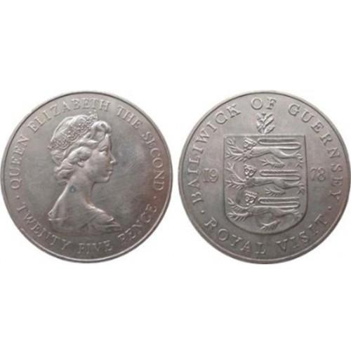 Guernsey (Reino Unido) -  25 Peniques de 1978