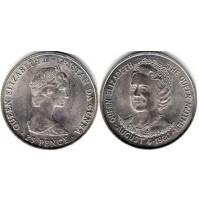 Tristán da Cunha (Reino Unido) -  25 Peniques (Pence) de 1980
